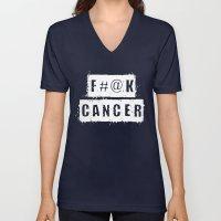 F@#K Cancer (inverse) Unisex V-Neck
