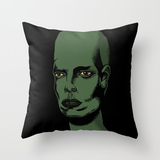 L'extraterrestre Throw Pillow