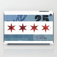 Ephemeral Chicago Flag iPad Case