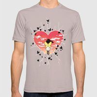 Butterflies Mens Fitted Tee Cinder SMALL