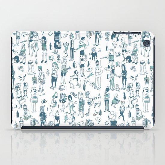 Crowd Pattern iPad Case