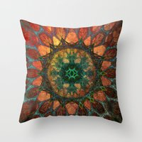 Sun Mandala Throw Pillow