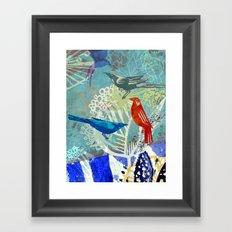 Birds in the backyard. Framed Art Print