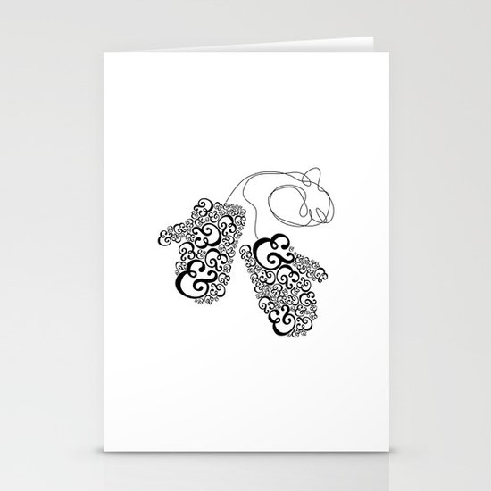 Ampersand Mittens Stationery Card