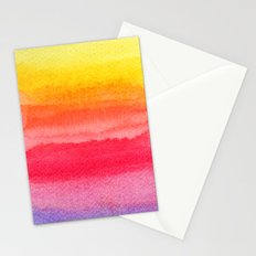 colorful watercolor brush strokes 2 Stationery Cards