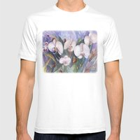 Orchid Fantasy Mens Fitted Tee White SMALL