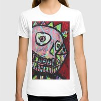 King Skull Womens Fitted Tee White SMALL