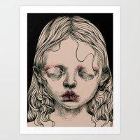 Rabbit Eyes Art Print