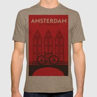 Amsterdam City Mens Fitted Tee Tri-Coffee SMALL