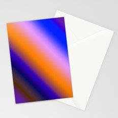 Orange & Blue Stripes Stationery Cards
