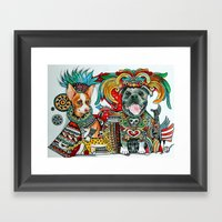 Junior And Taco Framed Art Print