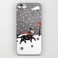 Snow Cat iPhone & iPod Skin
