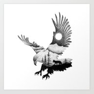 Art Print featuring THE EAGLE AND THE FOX by Thiago Bianchini