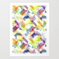 Aztec Geometric II Art Print