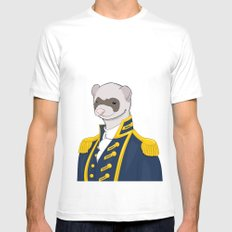Captain Ferret SMALL White Mens Fitted Tee