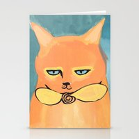 Orange Cat Stationery Cards