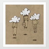 Head in the Clouds Art Print