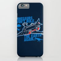 iPhone & iPod Case featuring FIGHT THE DINOS by Letter_q