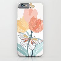 Butterflies and Tulips I iPhone 6 Slim Case