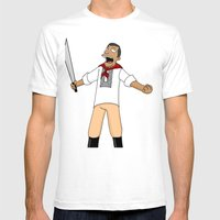 Andres Bonifacio Simpsons Style Mens Fitted Tee White SMALL