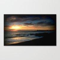 Sunrise Over Bass Strait… Canvas Print