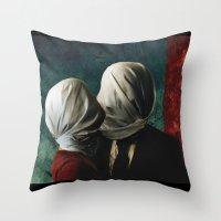 Les AMANTS Throw Pillow