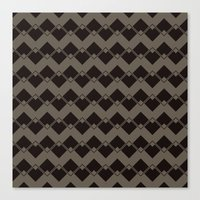 Taupe Geometric Art Deco… Canvas Print
