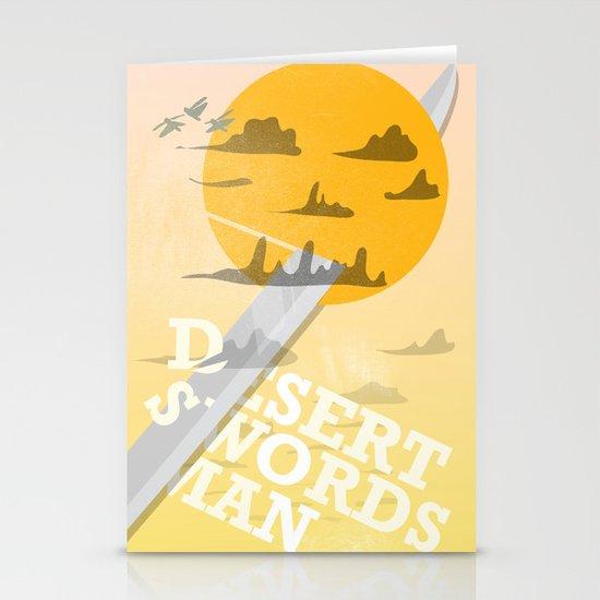 Desert Swordsman Stationery Card