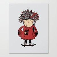 Native American Skater B… Canvas Print