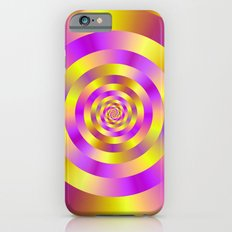 Yellow and Pink Spiral Rings Slim Case iPhone 6s
