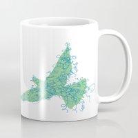 Bird Fly No. 2 (Blue/Green) Mug
