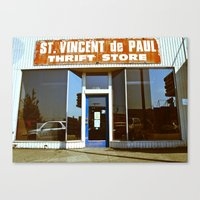 Canvas Print featuring Vinnie was here by Vorona Photography