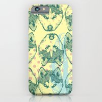 iPhone & iPod Case featuring Wolf Print by Jessica Feral