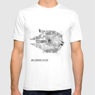 Star Wars Vehicle Millen… Mens Fitted Tee White SMALL