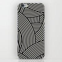 New Weave in Black iPhone & iPod Skin