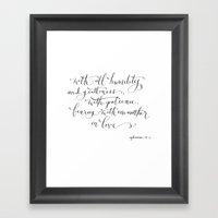 Bearing in Love Framed Art Print