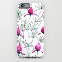 iPhone & iPod Case featuring small purple flowers by Federico Faggion
