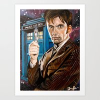 The Tenth Doctor And His… Art Print