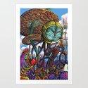Otherworldly Ecologist Art Print
