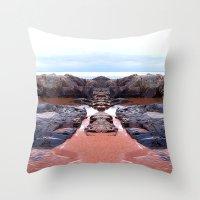 Reflection Of Short Rock Throw Pillow