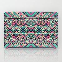 Pink Turquoise Girly Azt… iPad Case