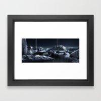 Ice City Framed Art Print