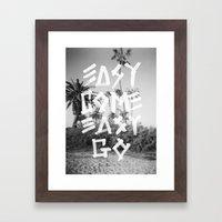 EASY GO Framed Art Print