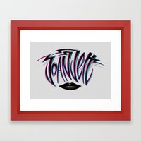 Joan Jett Tribute Framed Art Print