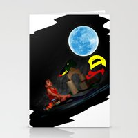 Watching The Moon Stationery Cards