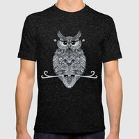 OwL Mens Fitted Tee Tri-Black SMALL