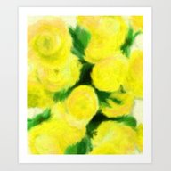 Yellow Flowers II Art Print