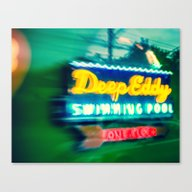 Deep Eddy Swim Neon Sign Canvas Print