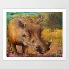 Common Warthog (Phacochoerus africanus)  Art Print