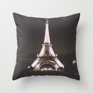 Vintage Style Paris Throw Pillow